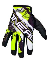 vintage motocross gloves oneal new 2017 mx jump shocker black neon yellow bmx dirt bike