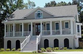 low country home raised low country home plan 91003gu architectural designs