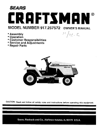craftsman lawn tractor manual documents