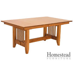 Mission Dining Room Furniture Custom Built Hardwood Furniture By Homestead Furniture Made In Usa