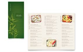 menu publisher template asian restaurant take out brochure template word publisher