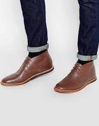 cheap men shoes frank wright strachan leather chukka boots