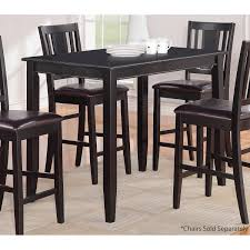 30 x 48 dining table parawood furniture buckland 30 x48 black counter height rectangular