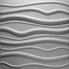 dimensional wall 3d wall ekb 02 101 waves three dimensional paintable wall decor