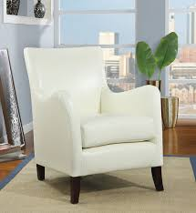 White Leather Accent Chair Popular Of Leather Accent Chair Coaster Black Faux Leather Accent