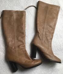 womens boots zipper back adrienne vittadini womens boots leather size 9 m brown zipper back