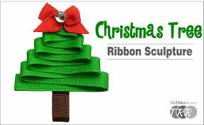 how to make a christmas tree ribbon sculpture theribbonretreat