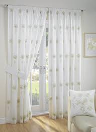 Green Curtain Pole Libby Lined Voile Ready Made Curtain Curtains Blinds Rugs