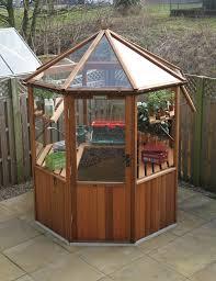 Greenhouse Gazebo Octagonal Cedar Greenhouse 6ft0 X 6ft0 Alton Greenhouses