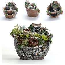 Succulent Plant Sky Garden Planter Herb Flower Cactus Succulent Plant Resin Pot