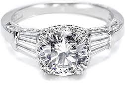 baguette ring tacori diamond baguette pave engagement ring 2625