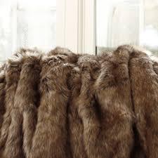 Fox Fur Blanket Luxury Faux Fur Blanket Queen Homesfeed