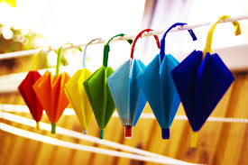How To Make Paper Umbrellas - how to make a paper umbrella origami