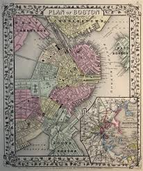 Map Of Boston by Map Of Boston 1869