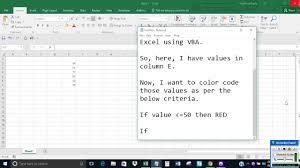 color cell if value is within a range in excel using vba youtube