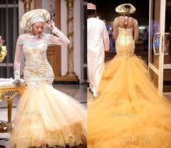 african traditional wedding dresses 2015 gold tulle pearls beaded
