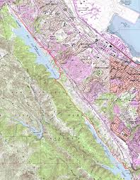 San Francisco Topographic Map sawyer camp and san andreas trails bay area mountain bike rides