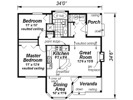 Narrow Home Floor Plans by Country Style House Plan 2 Beds 1 Baths 925 Sq Ft Plan 18 1047