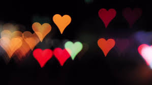 valentines day lights heart shaped blurred lights day stock footage