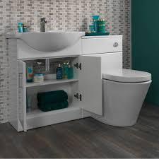 sienna arte white gloss combination vanity unit small