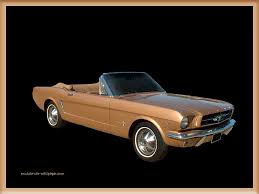 1964 ford mustang wallpaper brown convertible