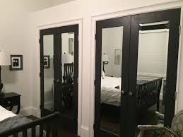 mirror closet doors for bedrooms extraordinary bedroom decor with black mirrored closet doors and