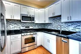 black and white kitchen backsplash kitchens with black granite white kitchen with black kitchen