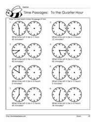 telling time passages to the quarter hour worksheets