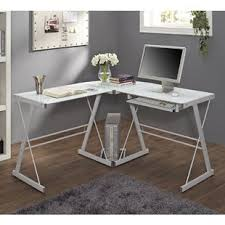 nickel plated desk l white lacquer desk wayfair