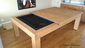 pool table converts to dining table homes design inspiration