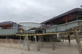 sandy washed away martell u0027s tiki bar u0027s pier in new jersey eater