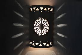 Copper Wall Sconce Lights 14 U201d Open Top Dreamcatcher Copper Cover W Silver Mica Lens Tribal