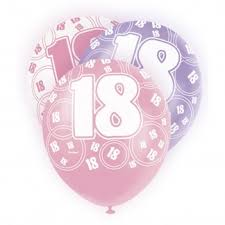balloons for 18th birthday glitz pink 18th birthday balloons pack of 6 18th birthday party