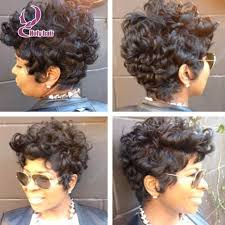 short hairstyle wigs for black women fashion short cut lace front wigs 7a brazilian virgin hair curly