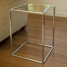 square glass end table square glass top brass end table