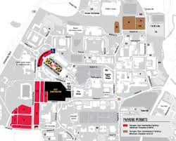 Michigan Stadium Parking Map Michigan Map by Dots Athletic Event Parking