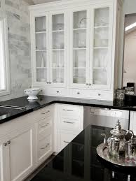 Absolute Black Granite Design Ideas - Backsplash for black granite