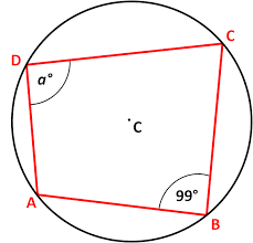 angles in cyclic quadrilaterals worksheet edplace