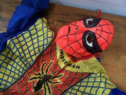 spider man 1965 ben cooper costume vintage halloween marvel comics