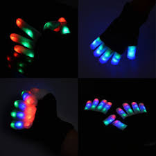 glow party supplies 7 mode led finger lighting glow mittens gloves light