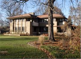 Frank Lloyd Wright Style Houses Robert Mueller House Decatur Illinois 1910 Marion Mahony And