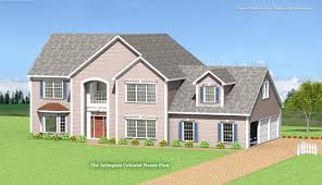 Colonial House Plan by Arlington Modular Colonial Home Plan
