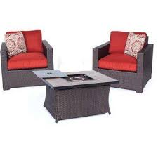 Patio Furniture With Gas Fire Pit by Fire Pit Sets Outdoor Lounge Furniture The Home Depot