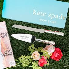 wedding gift knife set lenox kate spade gardner cake knife and server set custom