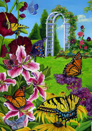 Decorative Garden Flags Butterflies In The Garden Flag Mad About Gardening