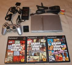 sony playstation 2 ps2 slim satin silver console matching