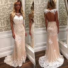 open back wedding dresses cap sleeve prom dress with beaded belt white open back wedding