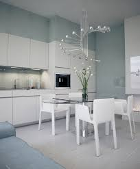 dining room chic white kitchen dining table idea with oval glass