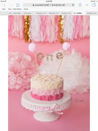 cake banner topper pink and gold one cake banner cake topper