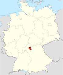 Bavaria Germany Map by Schweinfurt County